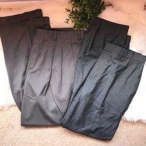 MENS 2 bundle grey slacks Murano & Perry Ellis